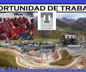 CONVOCATORIA DE TRABAJO PARA TECHINT
