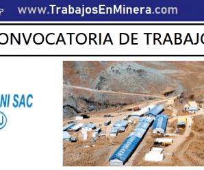 CONVOCATORIA DE TRABAJO PARA Minera Aruntani