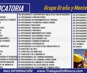 CONVOCATORIA DE TRABAJO PARA Grupo Graña y Montero