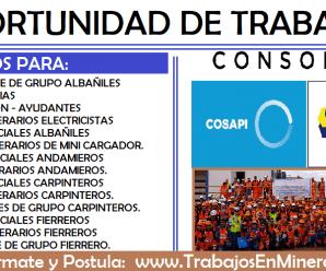COMVOCATORIA DE TRABAJO COSAPI-EPSA