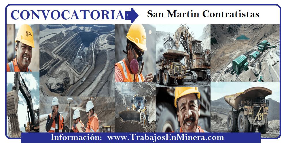 CONVOCATORIA DE TRABAJO San Martin Contratistas Generales S.A