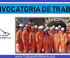 CONVOCATORIA DE TRABAJO Volcan Compañia Minera S.A.A.