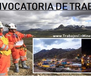CONVOCATORIA DE TRABAJO PARA Volcan Compañia Minera S.A.A.