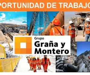 CONVOCATORIA DE TRABAJO PARA CORPORACIÓN GRAÑA y MONTERO
