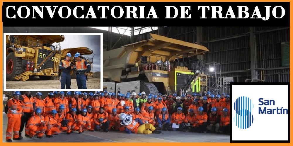 CONVOCATORIA DE TRABAJO PARA San Martin Contratistas