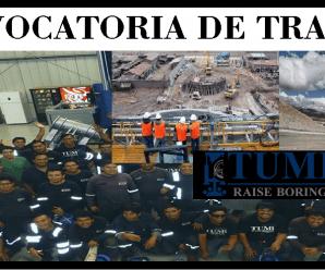 CONVOCATORIA DE TRABAJO Tumi Contratistas Mineros SAC