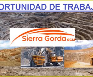 CONVOCATORIA DE TRABAJO PARA SIERRA GORDA