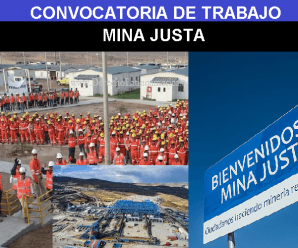 CONVOCATORIA DE TRABAJO PARA MINA JUSTA