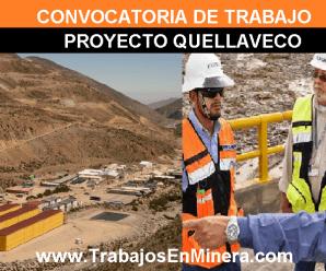 CONVOCATORIA DE TRABAJO PARA PROYECTO QUELLAVECO