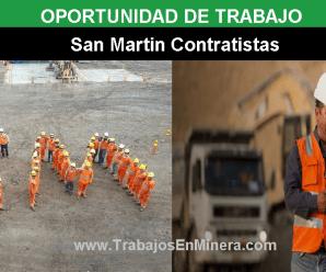 CONVOCATORIA DE TRABAJO PARA SAN MARTÍN CONTRATISTA