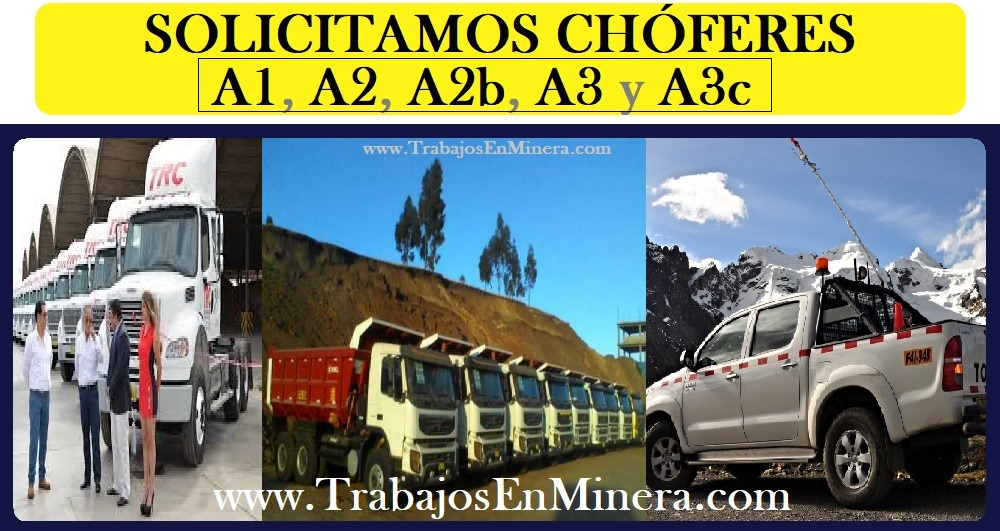 conductores choferes sector minero