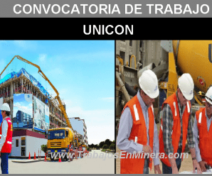 CONVOCATORIA DE TRABAJO PARA UNICON