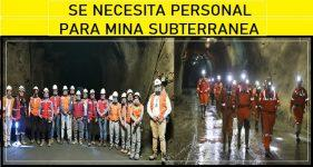 Trabajo mina subterranea