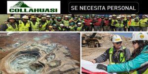 Se requiere reclutar para nuevos proyectos Collahuasi