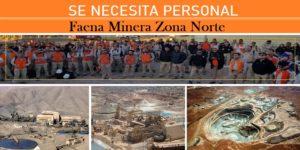 OFERTAS DE EMPLEO PARA Faena Minera Zona Norte