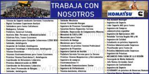 Ofertas de Empleos para Komatsu Cummins Chile