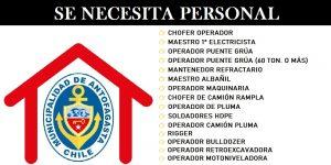 SE NECESITA PERSONAL PARA OMIL Municipalidad de Antofagasta