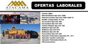 Empresa Atacama M.N. requiere contratar para faena minera