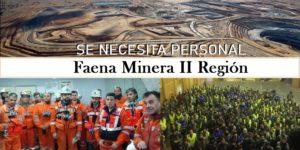 SE REQUIERE PERSONAL PARA Faena Minera II Región | 24 avisos de empleos