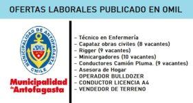 OFERTAS LABORALES PUBLICADO EN | OMIL Municipalidad de Antofagasta