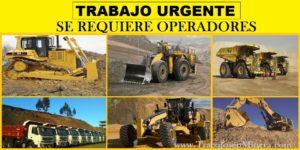 OFERTAS DE TRABAJO PARA OPERADORES