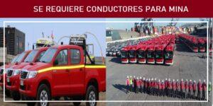SE REQUIERE CONDUCTORES PARA MINA (Mayo 2020)