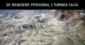 SE REQUIERE PERSONAL | TURNOS 14x14 MINERA DEL SALVADOR