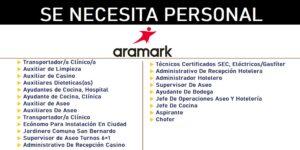 Aramark REQUIERE PERSONAL EN FORMA INMEDIATA