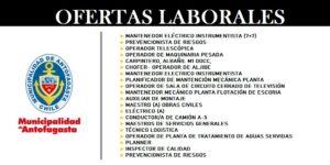 OFERTAS LABORALES OMIL MUNICIPALIDAD DE ANTOFAGASTA