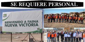 SE NECESITA PERSONAL PARA Faena Minera SQM Nueva Victoria