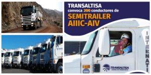 CONVOCATORIA : 200 CONDUCTORES DE SEMITRAILER  PARA TRANSALTISA