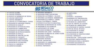 BS BESALCO - TRABAJA CON NOSOTROS