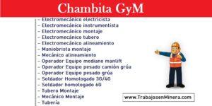 CONVOCATORIA DE TRABAJO GRUPO GRAÑA Y MONTERO GYM | CHAMBITA