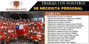 OPORTUNIDADES LABORALES PARA CODELCO Corporación Nacional del Cobre de Chile