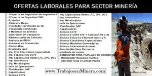 DATOS DE PEGAS - OFERTAS LABORALES PARA SECTOR MINERÍA