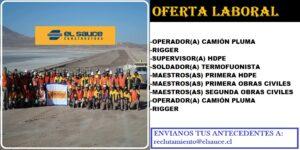 SE NECESITA PERSONAL PARA CONSTRUCTORA EL SAUCE | JULIO 2020