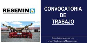 OPORTUNIDAD DE TRABAJO PARA RESEMIN | SETIEMBRE 2020