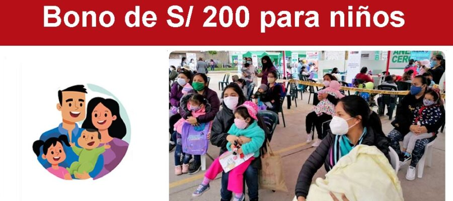 Bono de S 200 para niños