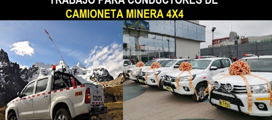 CAMIONETA MINERA 4X4