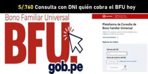 consulta con DNI quién cobra el BFU hoy, 3 de diciembre