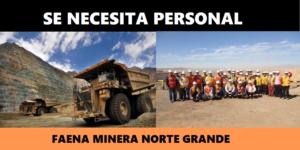 Ofertas de trabajo de Faena Minera Norte Grande