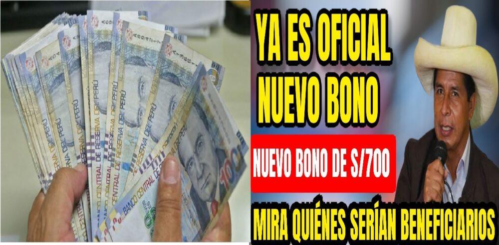 BONO DE S/ 700 SOLES