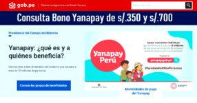 Consulta Bono Yanapay de 250 y 700 soles